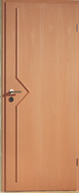 Furnérozott acel beltéri ajtó