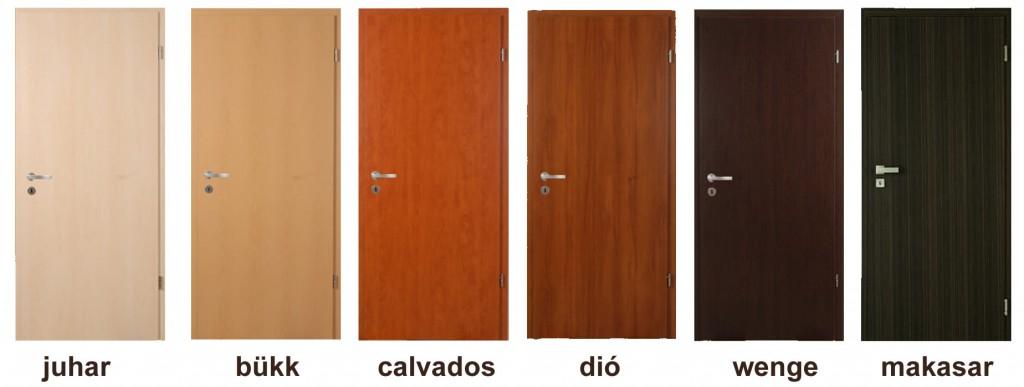 dekorfóliás beltéri ajtó színminták