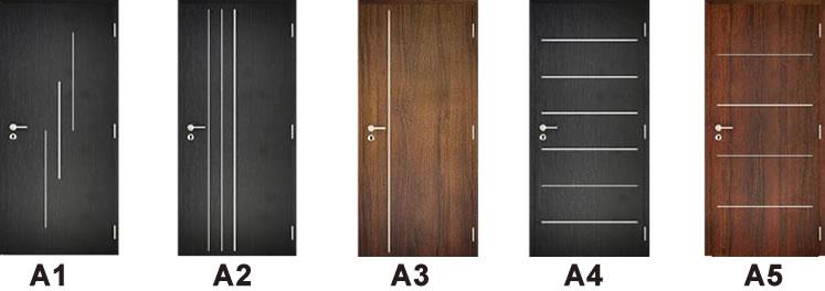 271ed3fa1f57 Dekorfóliás beltéri ajtó alumínium díszcsíkozási opciók